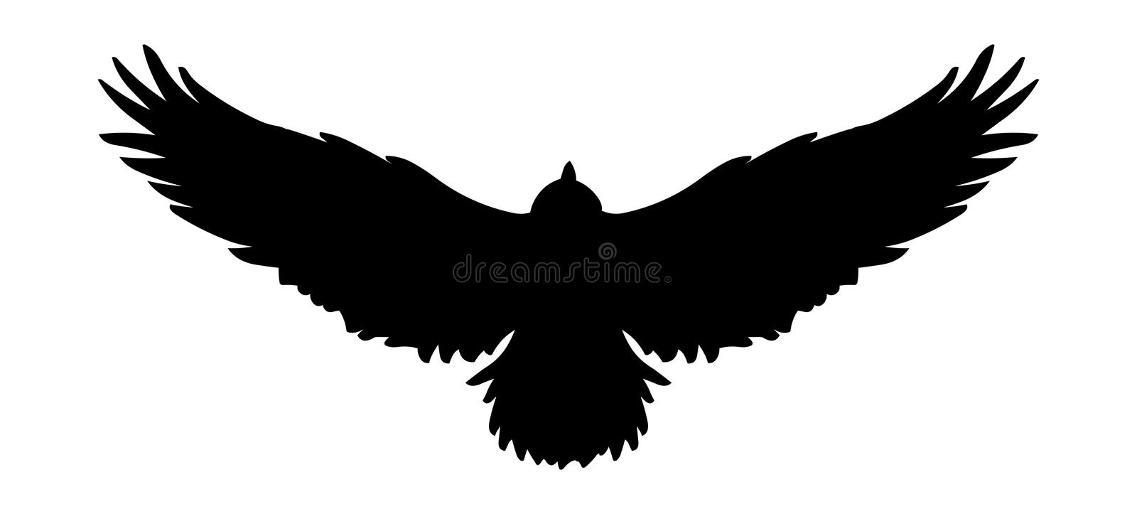 Flying bird icon logo, Vector eagle silhouette.Falcon illustration royalty free illustration