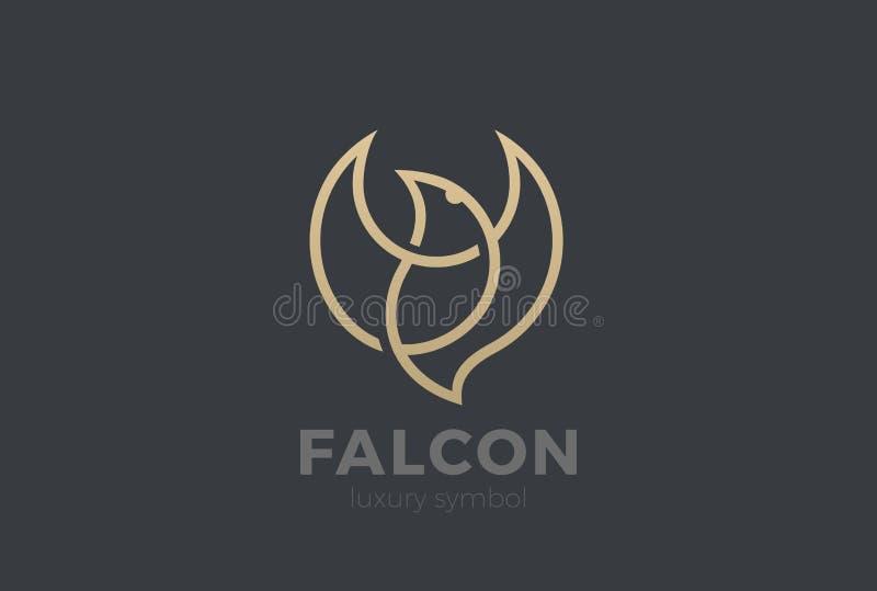 Flying Bird Logo Elegant design vector Eagle stock illustration