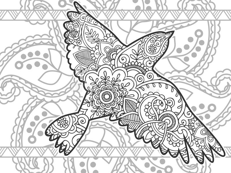 flying birds black and white animal hand drawn doodle royalty free stock photos