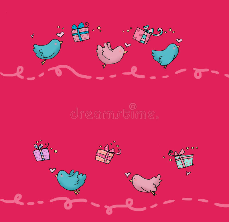Flying birds page stock photo