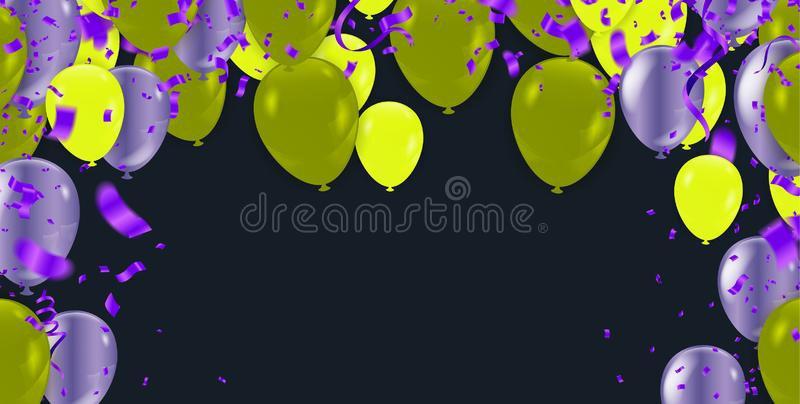 Flying blue balloons isolated on a white background pattern beautiful colorful illustration vector illustration