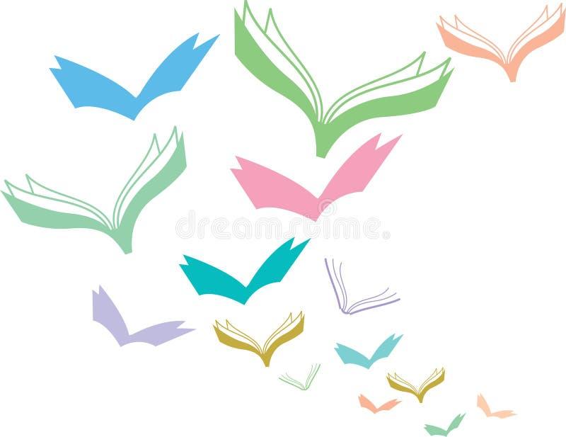 Flying Books Stock Vector Illustration Of Design Educational 14123792