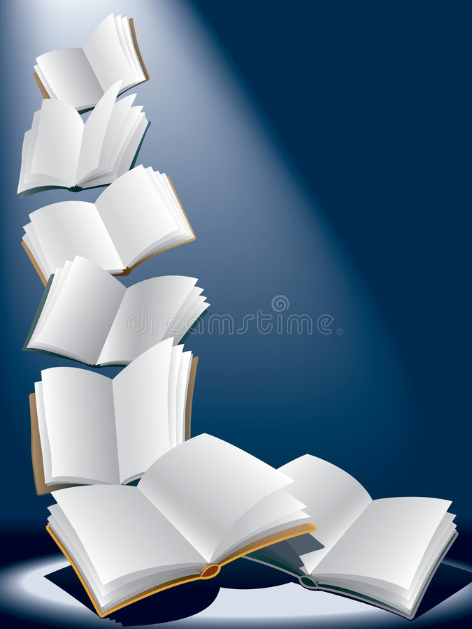 Flying books stock images