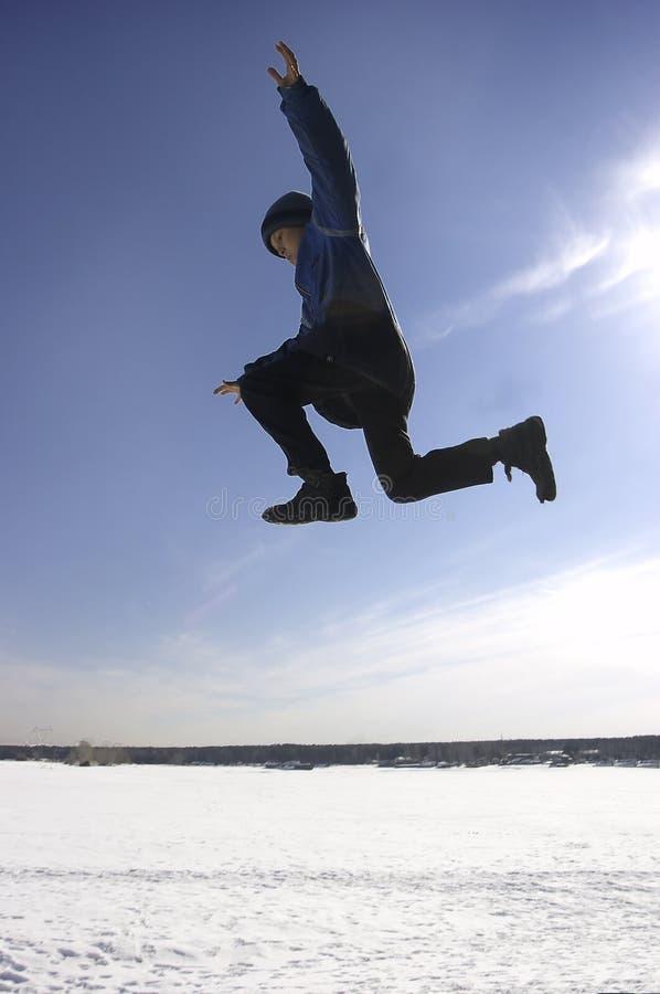 Flying boy stock photography