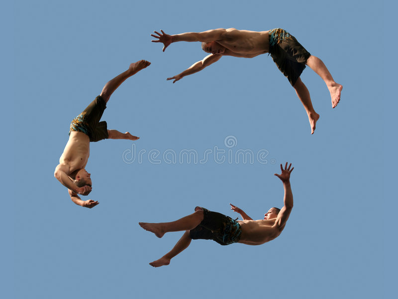 Flying boys royalty free stock photo