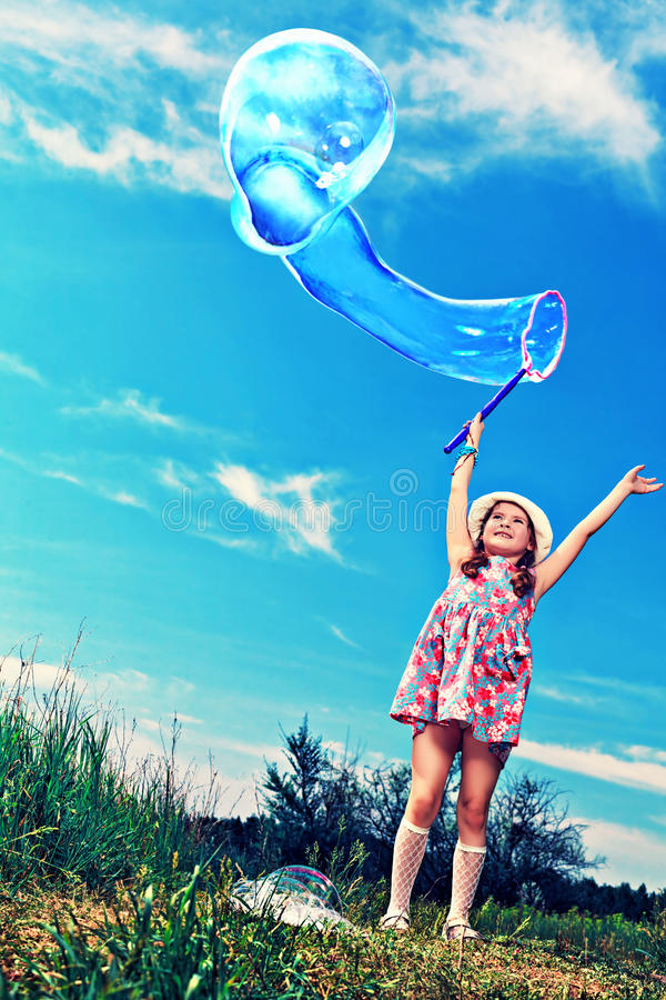 Download Flying bubble stock image. Image of park, childhood, delight - 25742817