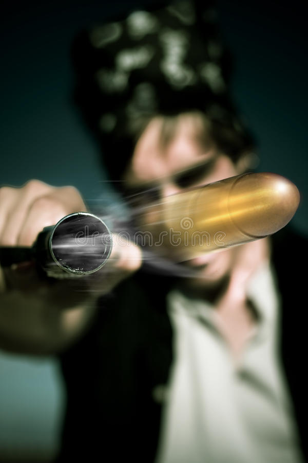 Download Flying Bullet stock image. Image of blurry, fired, blur - 19344341