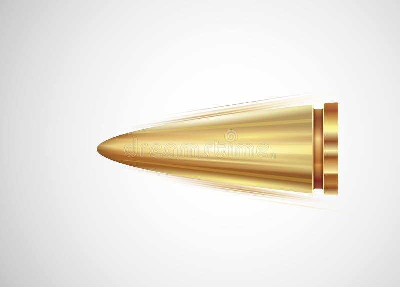 Flying Bullet Stock Photo