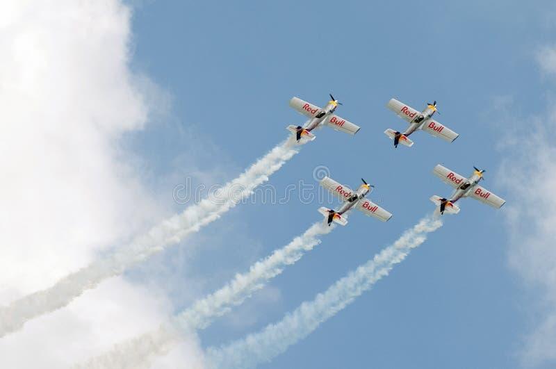 The flying bulls aerobatics team stock images