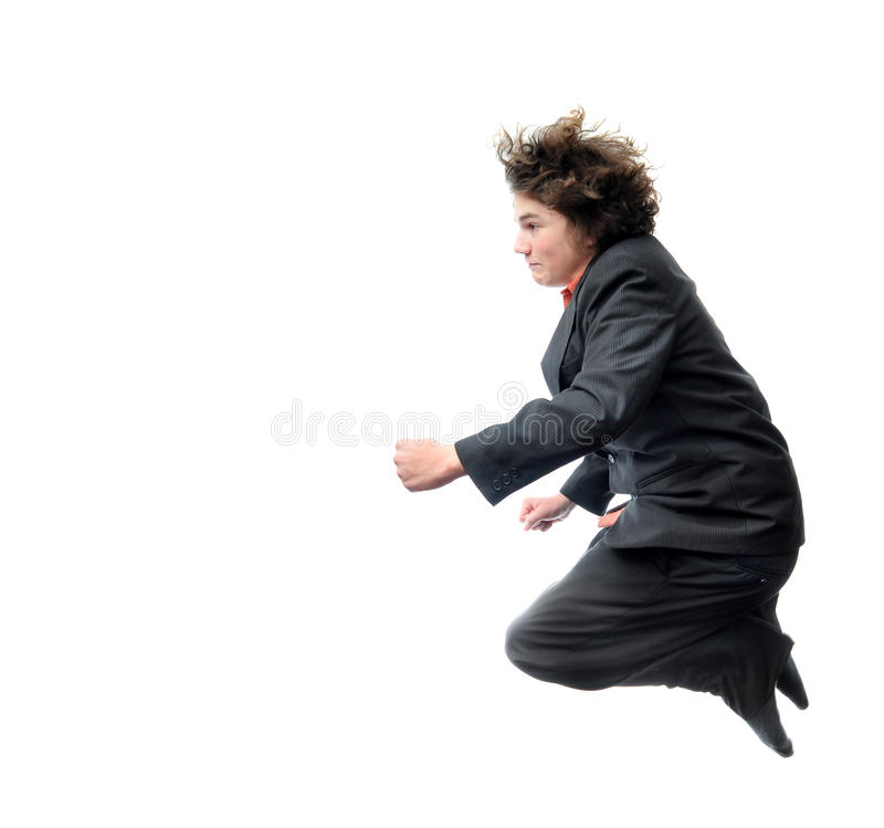 Flying Businessman royalty free stock photography