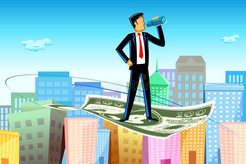 Flying Businessman vector illustration