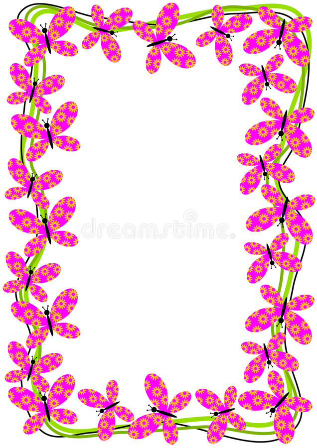 Cute butterfly frame