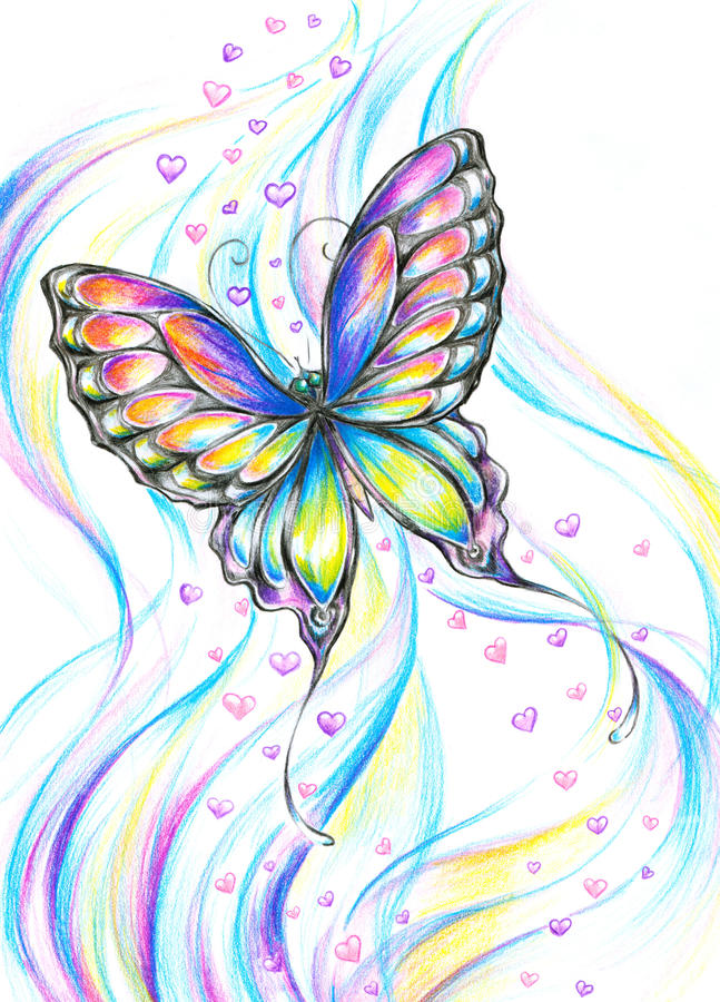 Flying Butterfly stock illustration. Image of natural ...