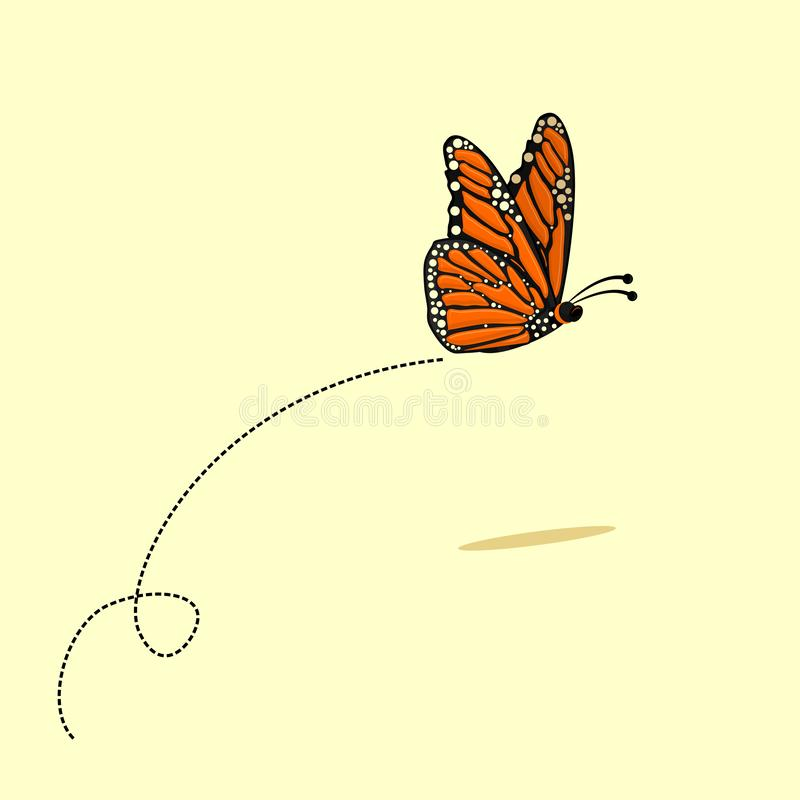 Free Flying Butterfly Vector Cartoon Stock Images - 167527004