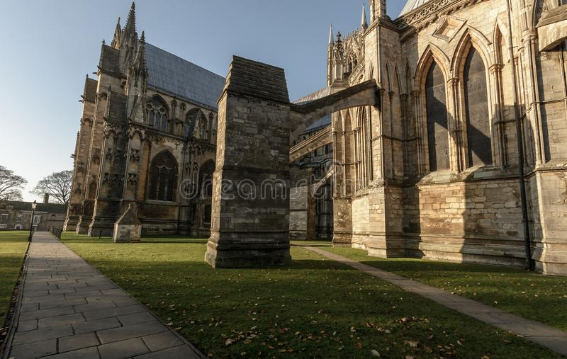 Flying Buttress of Lincoln Cathedral A royalty free stock photography
