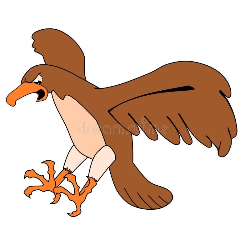 Flying Buzzard Royalty Free Stock Photos - Image: 19924018 Flying Hawk Cartoon