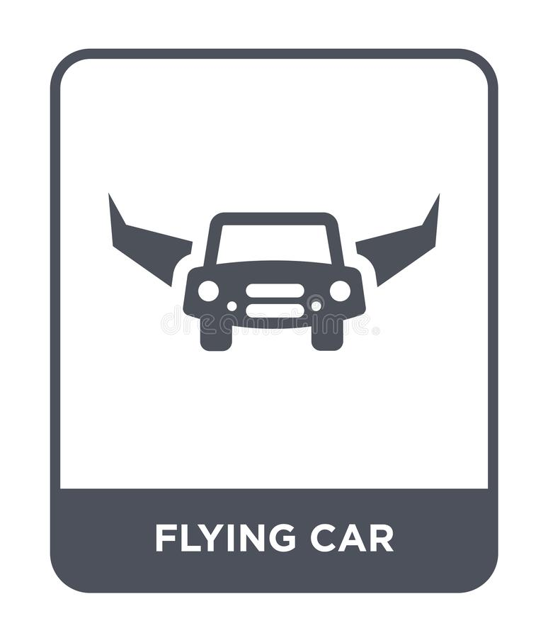 Flying car icon in trendy design style. flying car icon isolated on white background. flying car vector icon simple and modern. Flat symbol for web site, mobile vector illustration