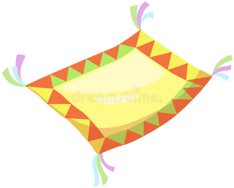 Flying carpet stock illustration