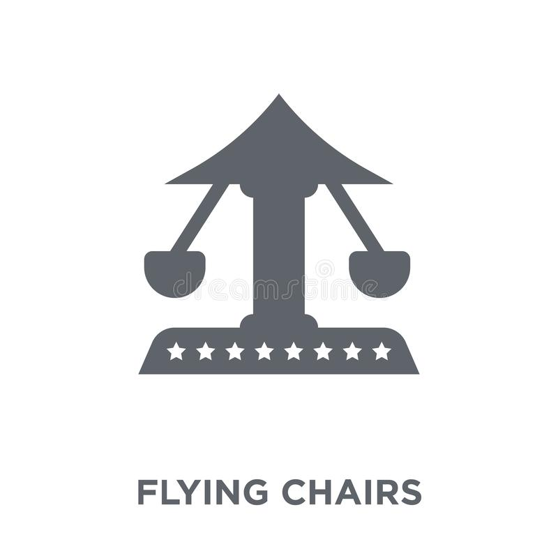 Flying chairs icon from Circus collection. Flying chairs icon. Flying chairs design concept from Circus collection. Simple element vector illustration on white royalty free illustration