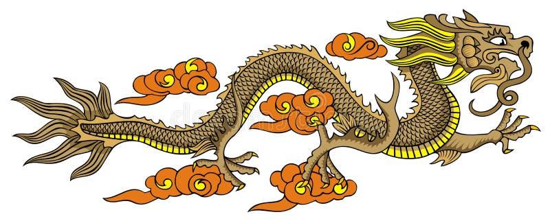 Flying Chinese dragon royalty free illustration