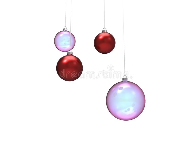 Download Flying Christmas ball stock illustration. Illustration of isolated - 22645865