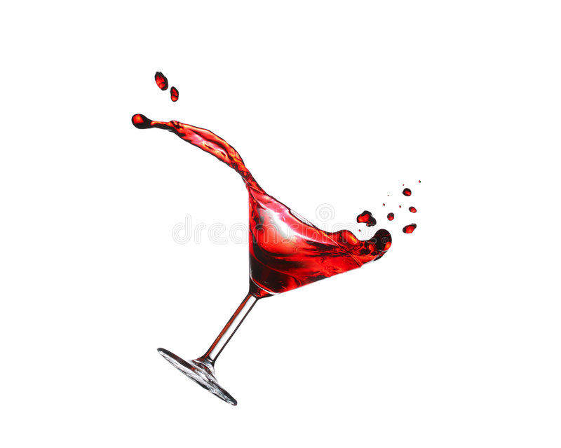 Flying cocktail royalty free stock image