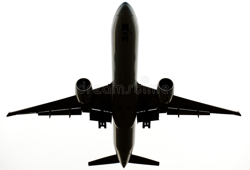 Download Flying Commercial Airplane Isolated On White Stock Image - Image of airliner, elevate: 24134765