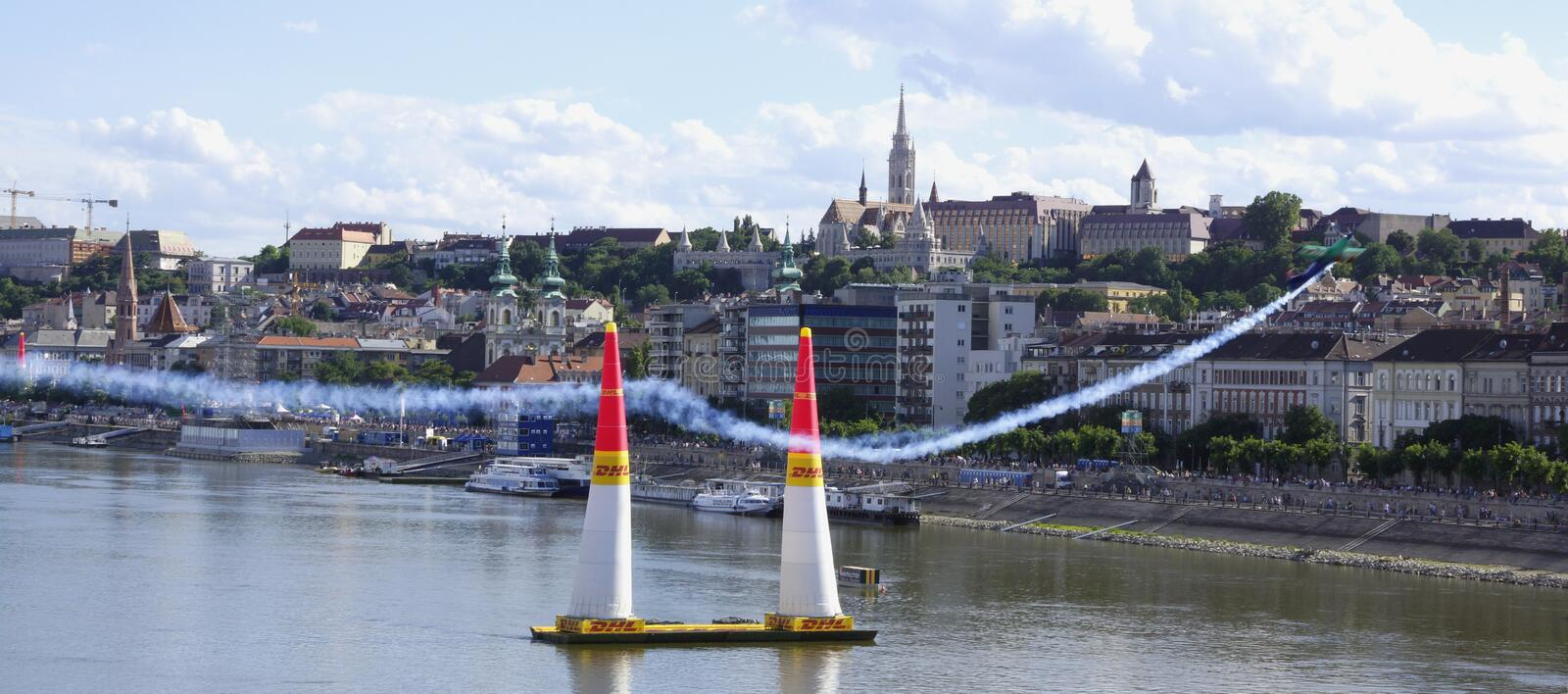 Red Bull Airrace in Budapest royalty free stock photos