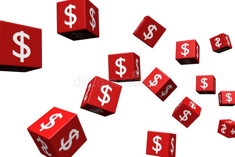 Flying dice stock illustration
