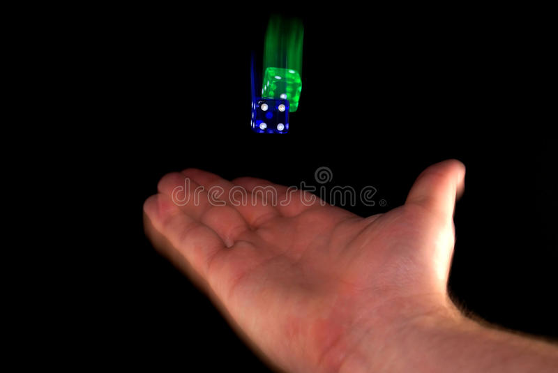 Flying Dice royalty free stock photos