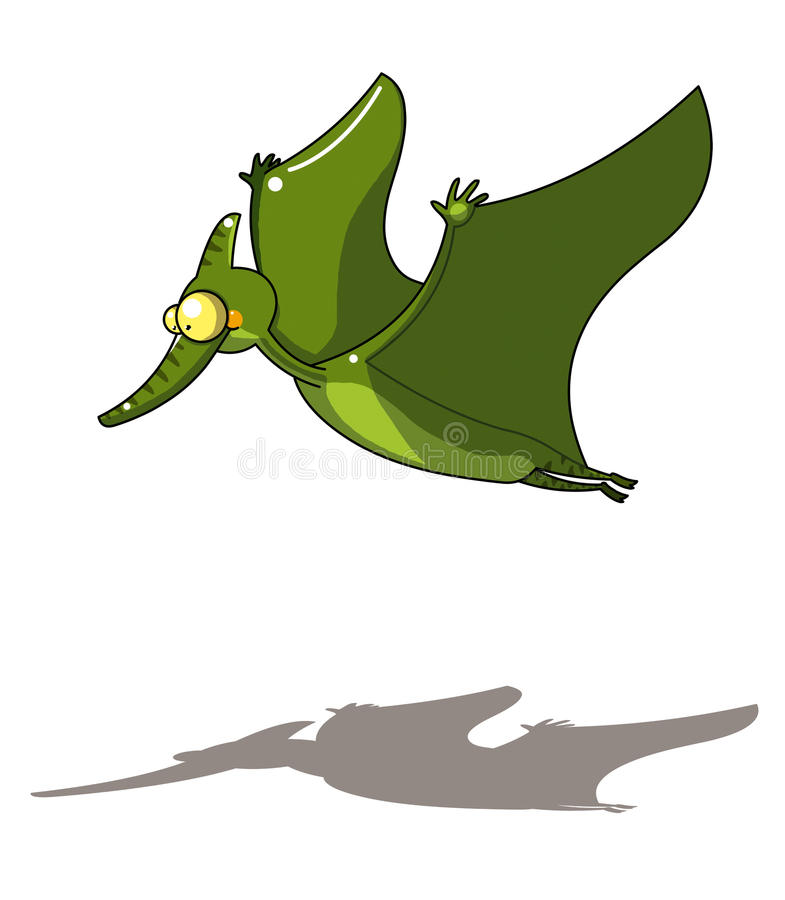 Download Flying dinosaur stock illustration. Image of design, clip - 14244944