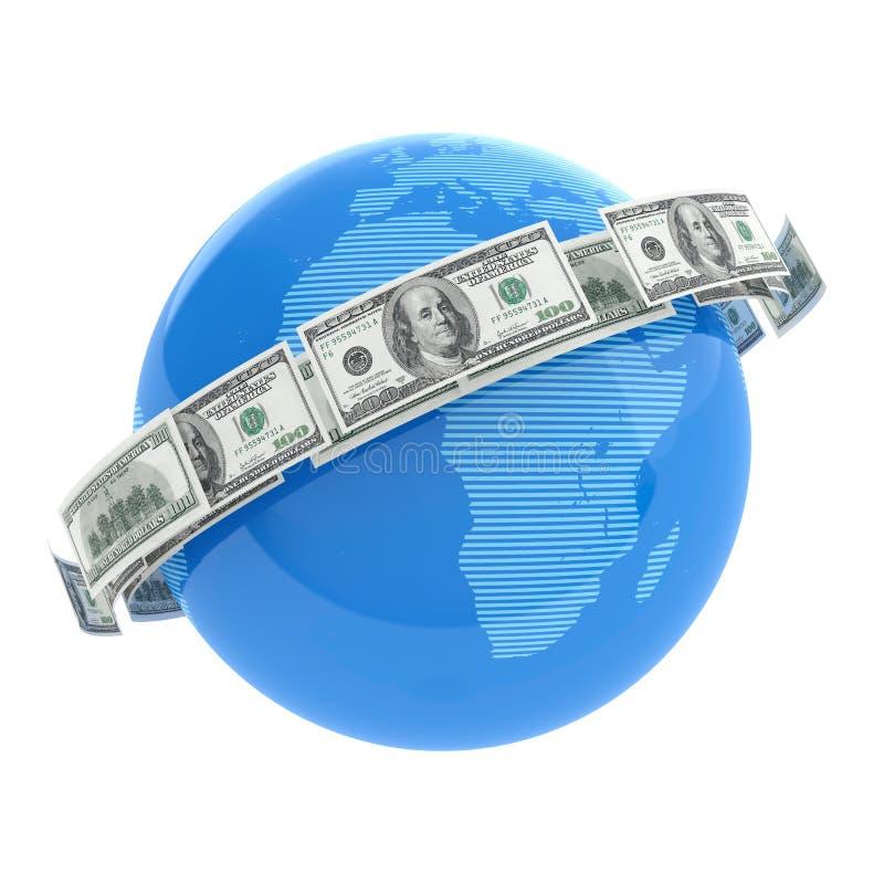 Download Flying dollars stock illustration. Image of concept, national - 25991075