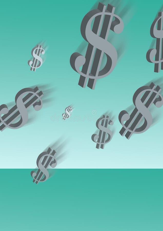 Flying dollars stock illustration