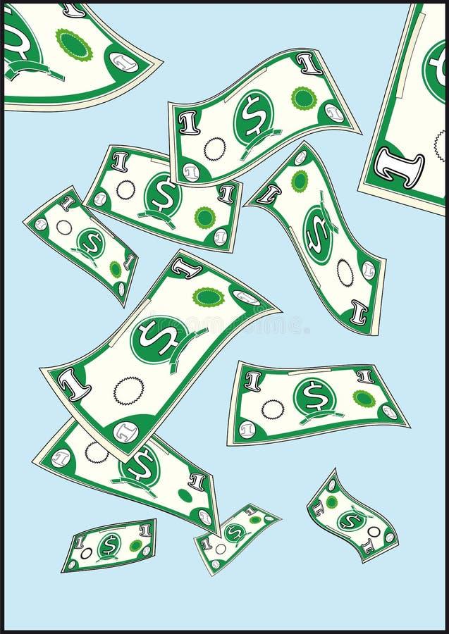 Download Flying dollars stock vector. Illustration of abundance - 9876708