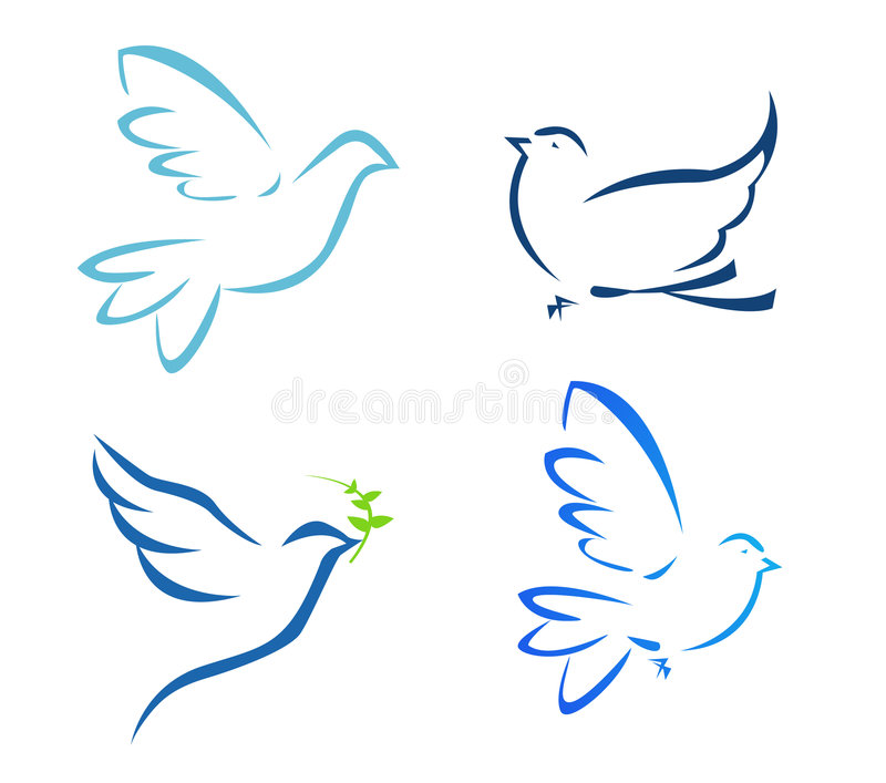 Flying dove. Vector illustration of flying dove