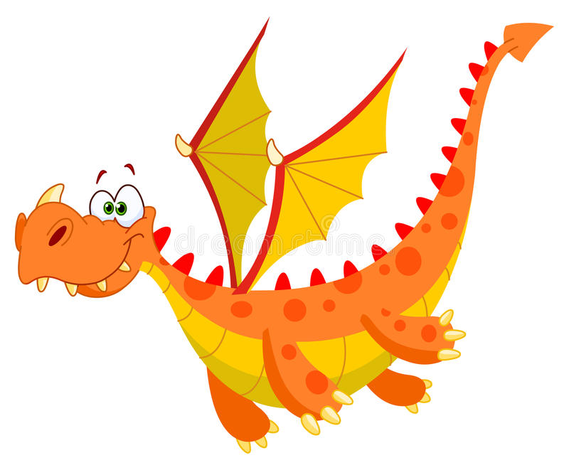 Flying dragon stock illustration