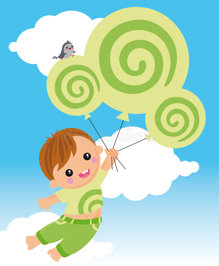 Flying with dreamstime royalty free illustration