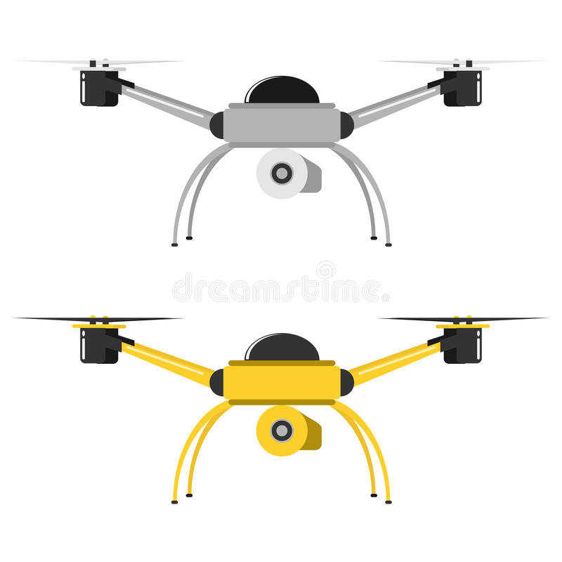 Flying drone, icon flying dron. Flat design, vector illustration, vector stock illustration