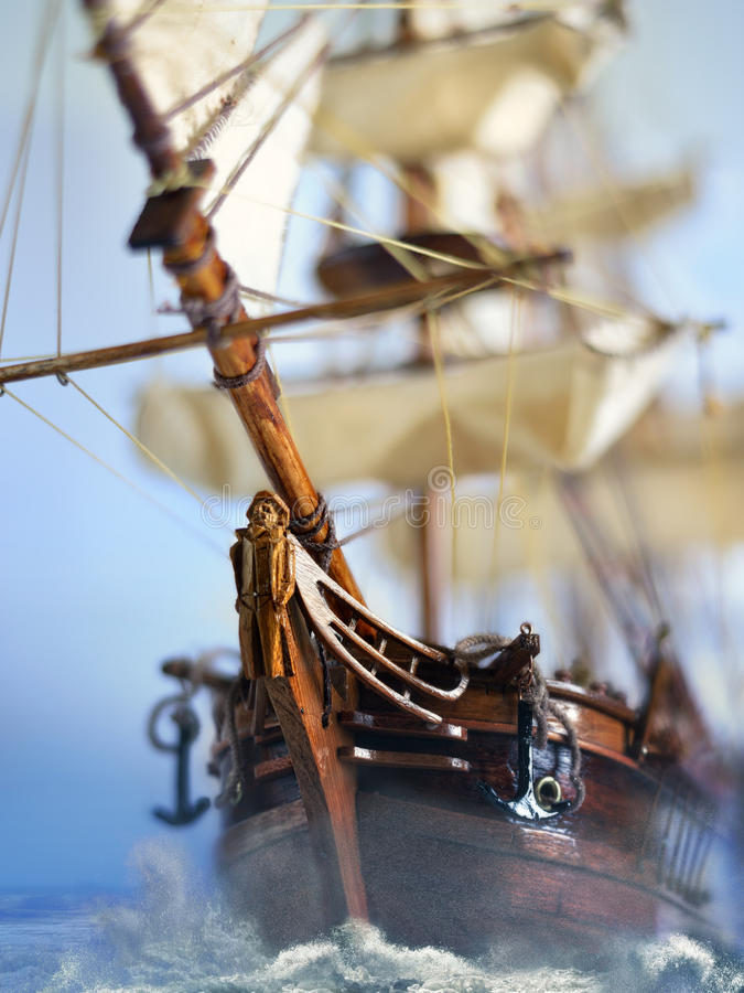 Flying Dutchman. Is the most famous ghost ship in the world as known as the Dutch Voltigeur royalty free stock image