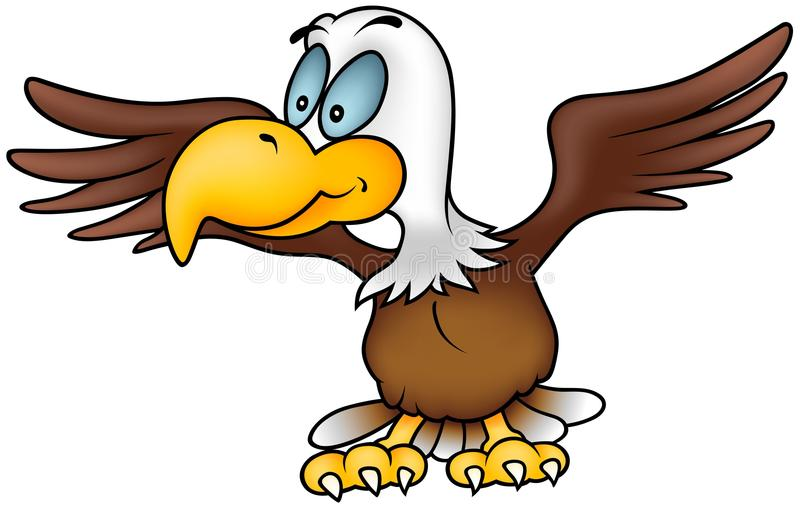 Download Flying Eagle stock vector. Image of animal, cartoons - 18075902