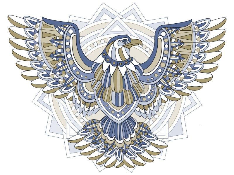 Flying eagle stock illustration. Illustration of doodle - 60473962