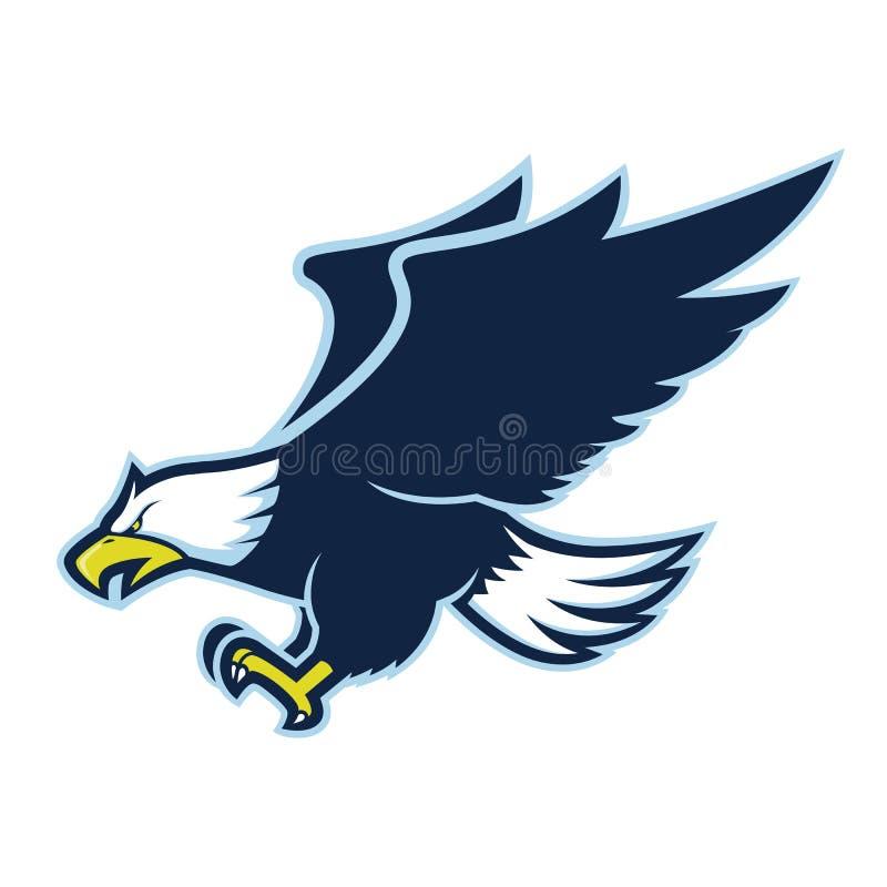 Flying eagle mascot royalty free illustration