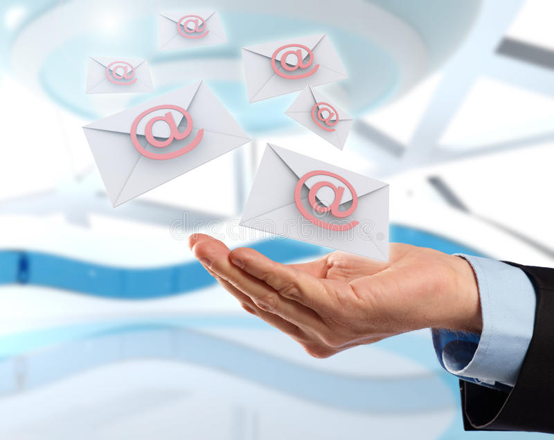 Download Flying Emails Royalty Free Stock Images - Image: 22362749