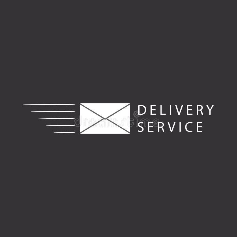 Flying envelope, logo or icon design. Fast flying envelope delivery mailing service logo or icon design element royalty free illustration