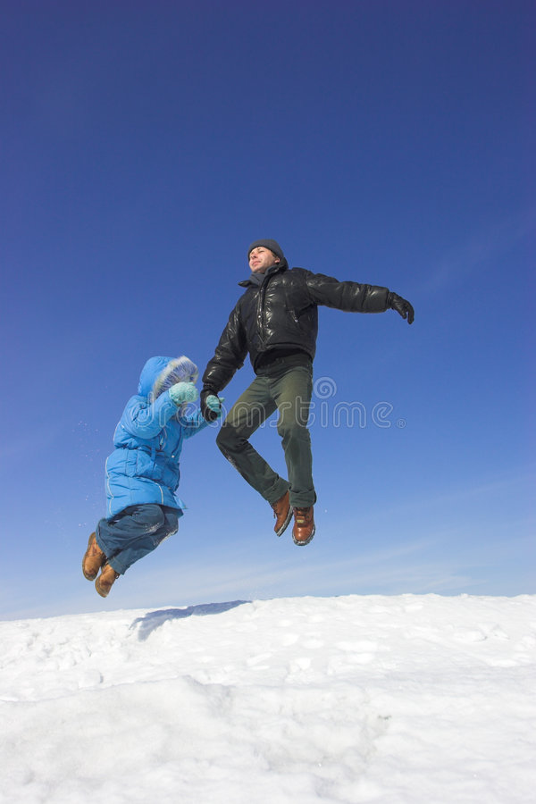 Flying family royalty free stock photography