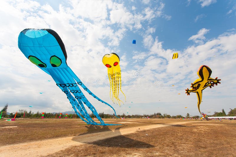 Download Flying fancy kite stock photo. Image of competition, recreation - 26065262