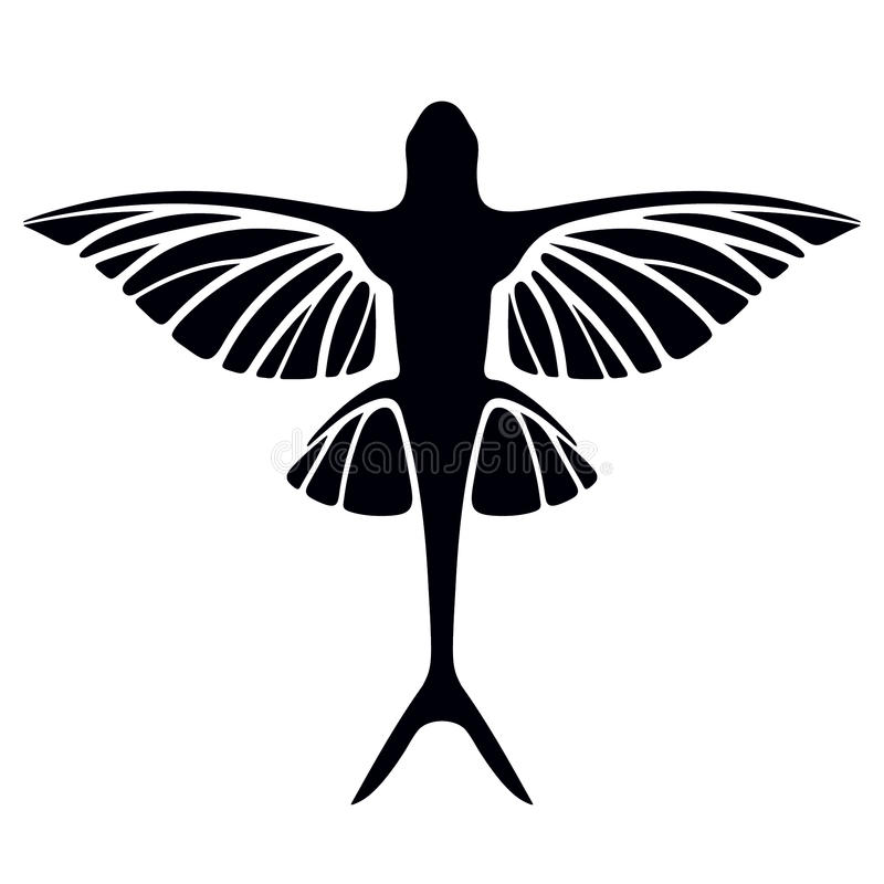 Flying fish royalty free illustration