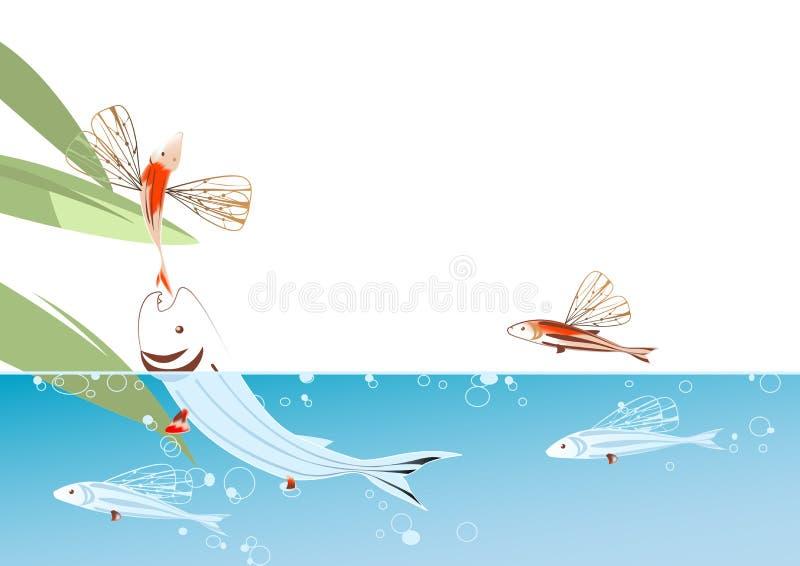 Flying fish vector illustration
