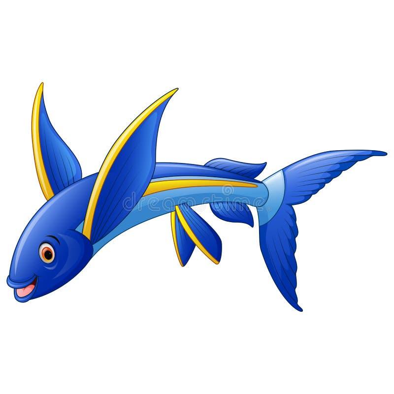 flying fish cartoon character stock vector image 68367845