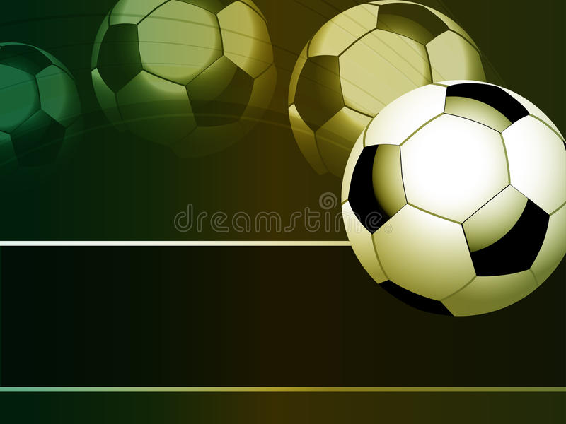 Flying Footballl Stock Photo